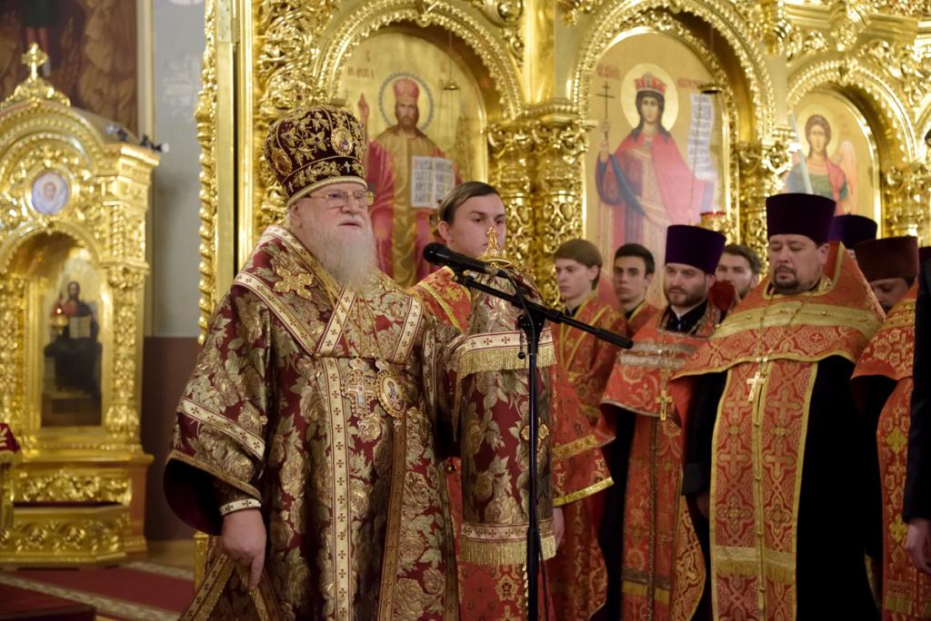 Слово митрополита Исидора к собравшимся верующим.